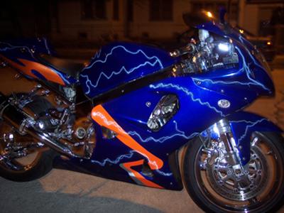 Custom Vinyl Motorcycle Wrap