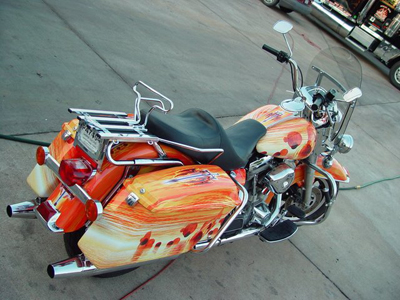 Custom Vinyl Motorcycle Wrap